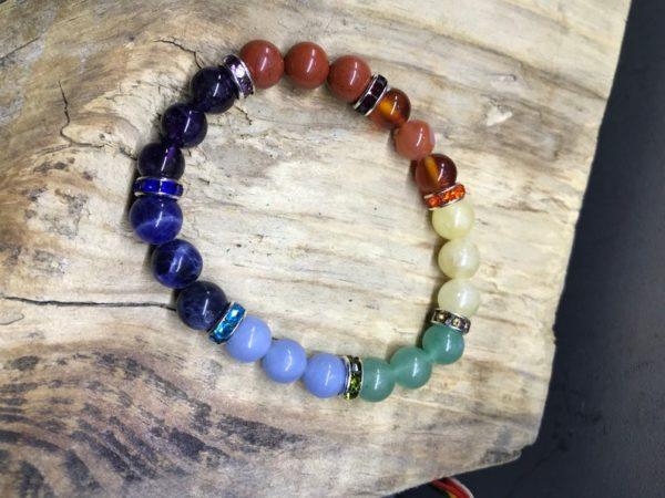 Bracelet perle 8mm 7 chakras
