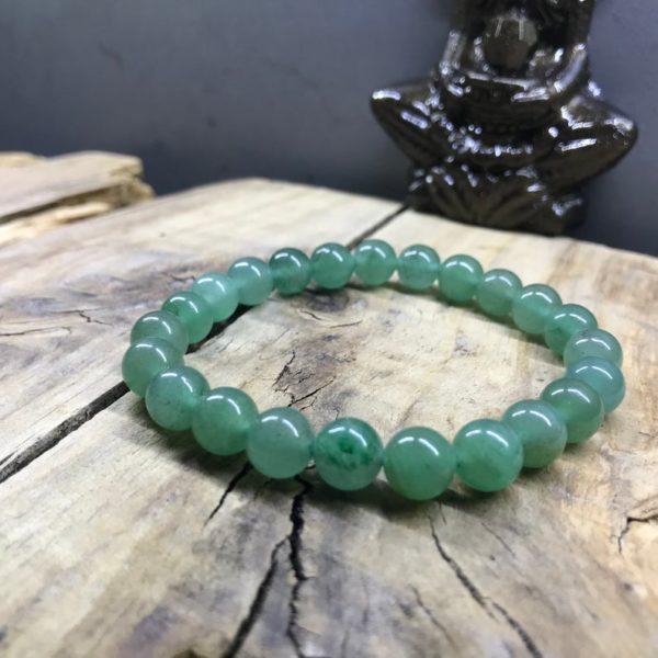 Bracelet perle 8mm en Aventurine verte naturelle