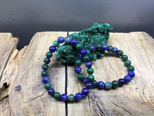 Bracelet perle 8mm Azurite