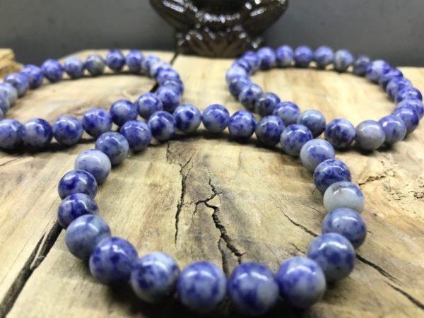 Bracelet élastique en perle de Sodalite naturelle
