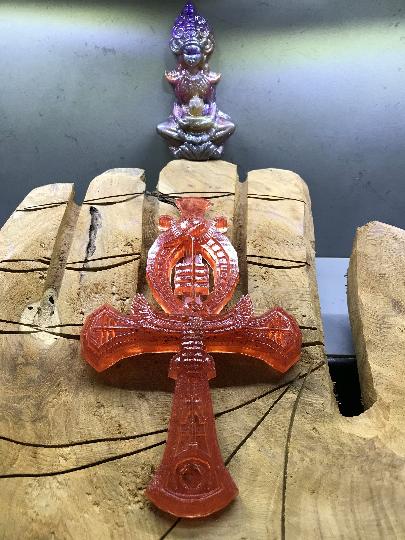 Croix d'Ankh avec jaspe rouge