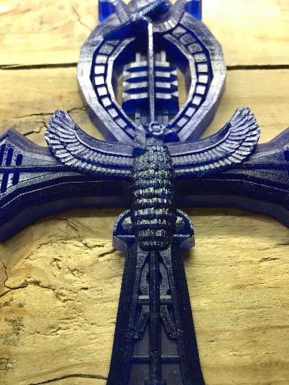Croix d'Ankh avec lapis-lazuli