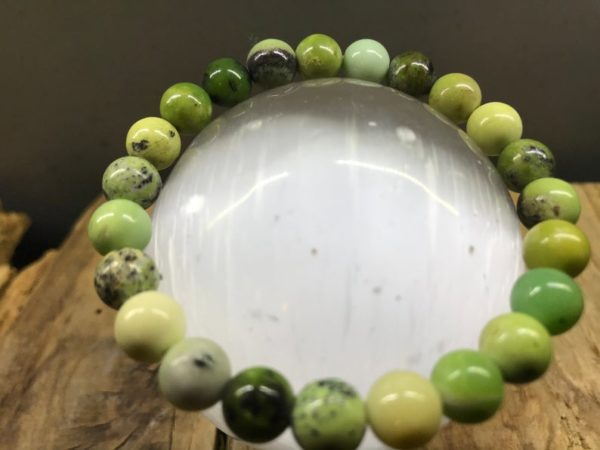 Bracelet pierre chrysoprase 8mm