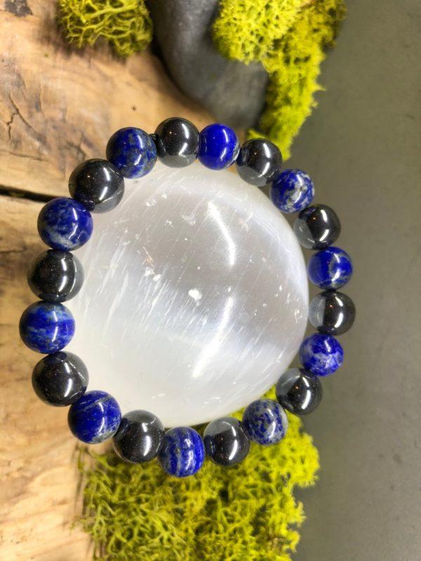 Bracelet Lapis-Lazuli et Hématite en 10mm