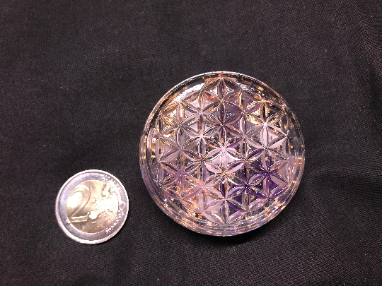 Mini orgonite fleur de vie 50mm