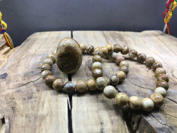 Bracelet perle 8mm jaspe paysage
