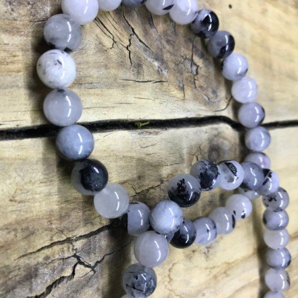 Bracelet quartz tourmaline