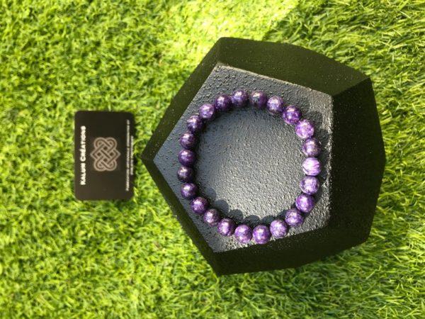 Bracelet charoïte en perle de 8 mm
