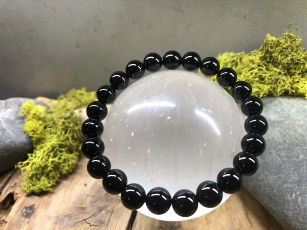 Bracelet pierre Onyx en perle de 8mm
