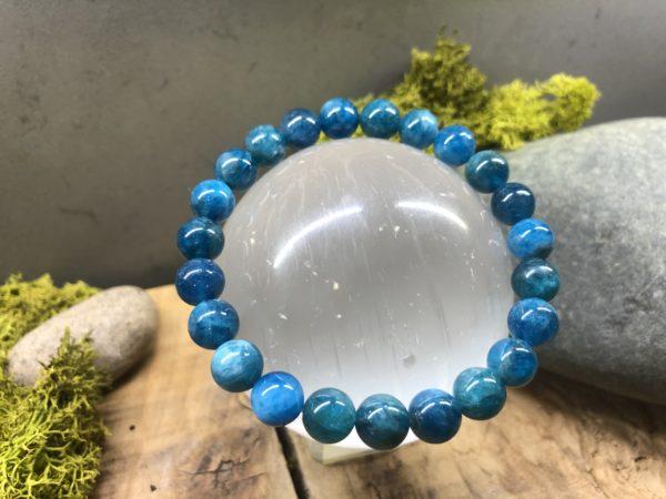 Bracelet en Apatite bleue 8mm
