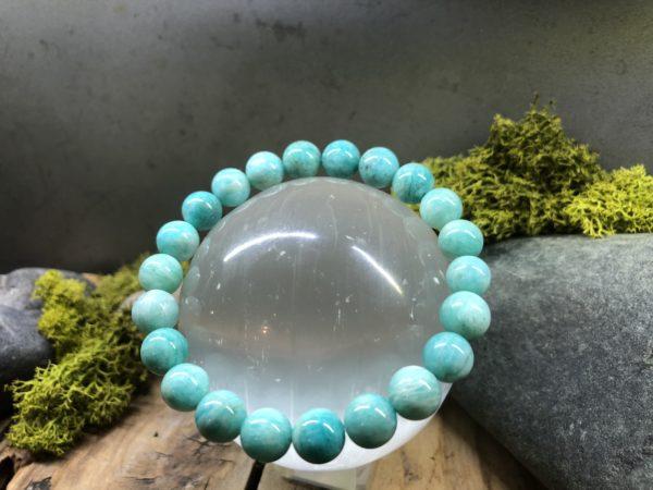 bracelet en Amazonite perle de 8mm
