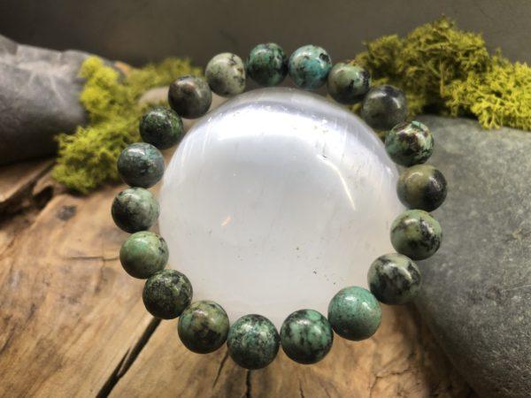 Bracelet perle turquoise Africaine 10mm