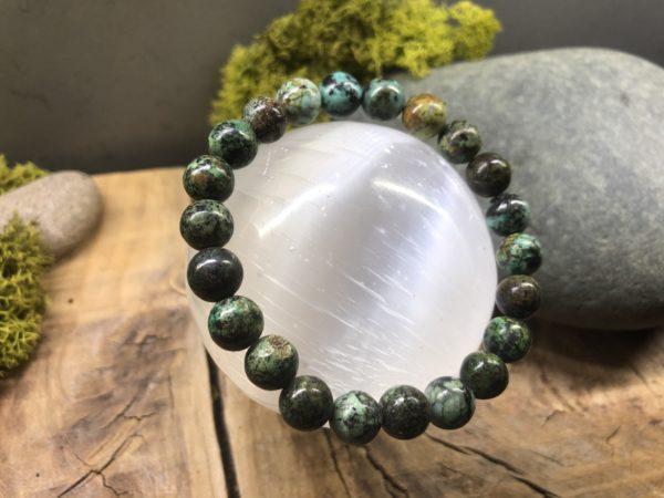 Bracelet perle turquoise Africaine 8mm