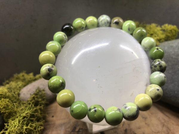 Bracelet en perle de Chrysoprase citron 8mm